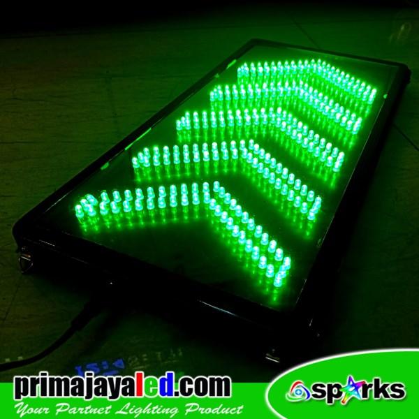 LED Sign Model Panah Hijau
