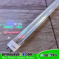 LED TL T8 2 Baris 120cm 18 Watt Putih Bening