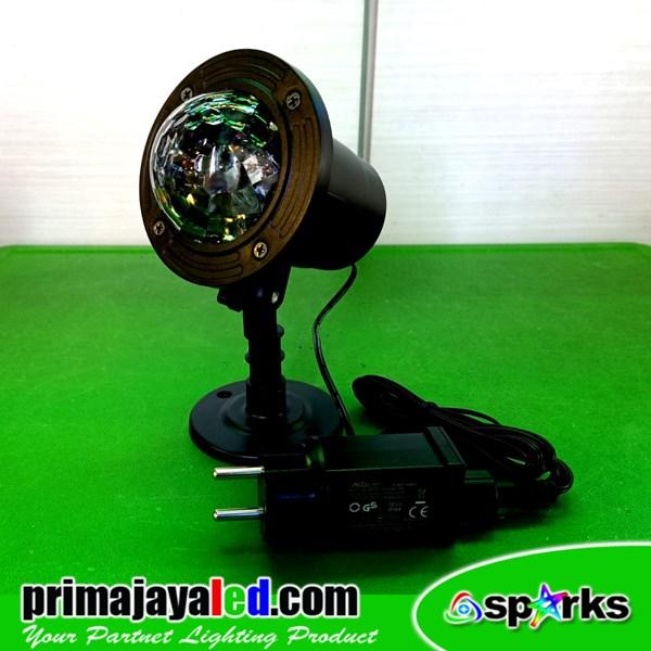 LED Proyektor Water Effect 3 Watt RGB Rainproof