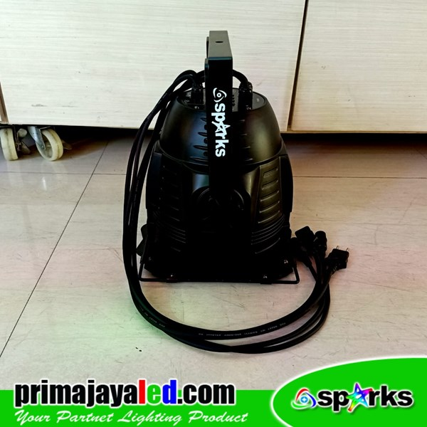 PAR Fresnel COB 200 Watt 2in1 Body Hitam 4 Kabel