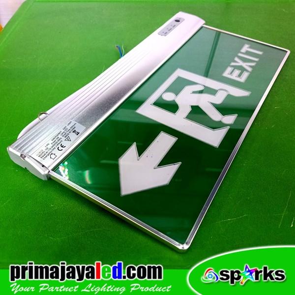 LED Sign Exit Emergency Panah 2 Sisi