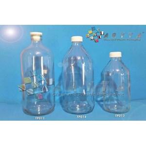Botol Kaca Bening 500ml dan 1 Liter Tutup Plastik