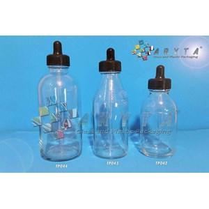 Botol Kaca Bening Pipet 100ml 150ml 250ml