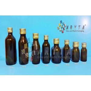 Botol Kaca Coklat 20ml 30ml 60ml 100ml 120ml Tutup Kaleng