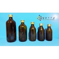 Botol kaca coklat 125ml 150ml 200ml 300ml 500ml 1