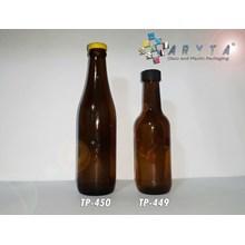 BROWN GLASS BOTTLES 330 ml CAP STOPPER ANKER STOUT and BLACK PLASTIC LID 200 ml PROMAN