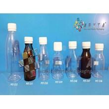 Botol Plastik Minuman 60ml 100ml 250ml Tutup Segel