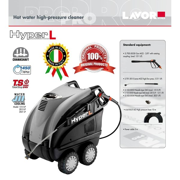 Hot Water High Pressure Cleaner Hyper L 1211 LP