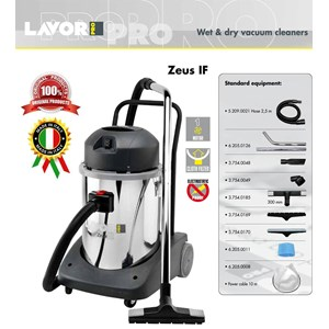VACUUM CLEANER (PENYEDOT DEBU) WET & DRY ZEUS IF