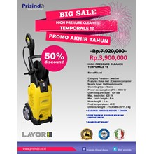HIGH PRESSURE CLEANER  TEMPORALE 19 (MESIN STEAM)