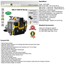 SWEEPERS SWL R 1000 ET BIN-UP with front light system (Mesin Penyapu)