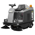 LAVOR SWL R 1000 ET RIDE ON SWEEPER MESIN BATTERY POWERED  1