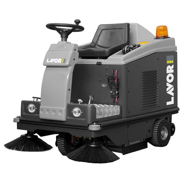 LAVOR SWL R 1000 ET RIDE ON SWEEPER MESIN BATTERY POWERED