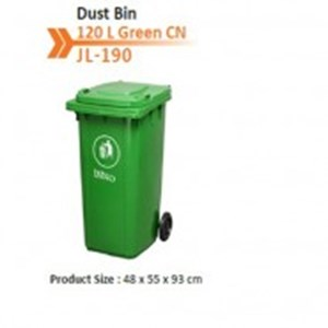 DUST BIN Tempat Sampah Plastik 120  LITER 2 RODA HDPE