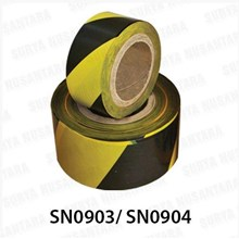 Barricade Tape Floor Sign Black-Yellow 500M