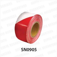 Jual Barricade Tape Floor Sign Red-White 300 M