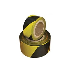 Barricade Tape Floor Sign Black-Yellow 300m