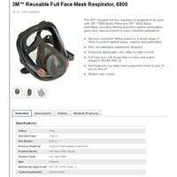 Masker Pernapasan 3M 6800