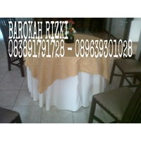 Round tablecloth material diablo