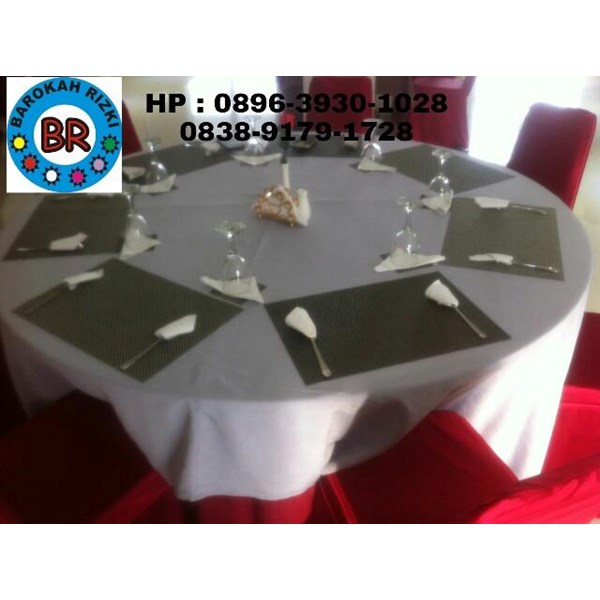 Taplak Meja bulat  ( Round Table Cloth