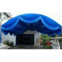 Plafon Dekor warna biru tua+biru muda