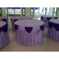 COVER TABLE BULAT HOTEL Murah 5