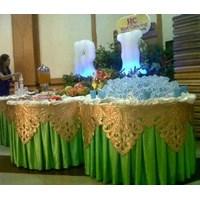 pembuat cover meja+poni bordir By Nandar Jaya Tenda