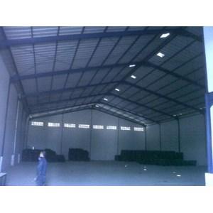 konstruksi baja gudang