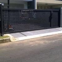 Pintu Dorong Plat Anyam Minimalis 1