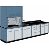 wall bench and fume hood