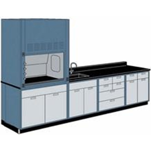 wall bench and fume hood meja laboratorium