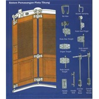 Jual pemasangan pintu tikung
