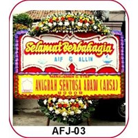 Jual Karangan Bunga Happy Wedding AFJ-04