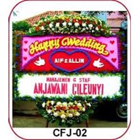 Jual Karangan Bunga Happy Wedding CFJ-02
