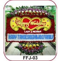 Jual Karangan Bunga Happy Wedding FFJ-03