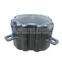 Kubus Apung Hdpe Single Black Oval - Modular Float System - Floating Dock - Kubus Apung Hdpe - Kubus Apung Plastik - Ponton Hdpe - Ponton Plastik - Cube Float