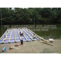 pembangunan Dermaga apung dari bahan pipa HDPE 1