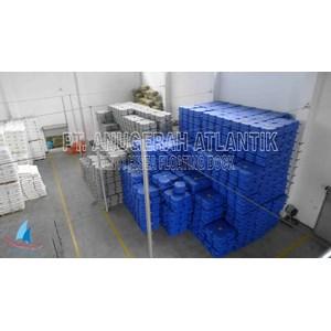 distributor kubus apung HDPE biru
