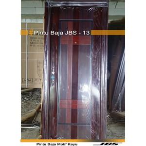 Pintu Besi Motif Kayu JBS Type 90 - 13