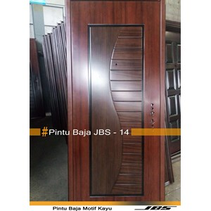 Pintu Besi Motif Kayu JBS Type 90 - 14
