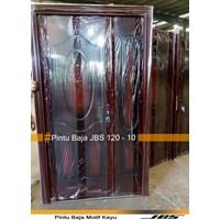 Pintu Besi Motif Kayu JBS Type 120 - 10