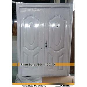 Pintu Besi Motif Kayu JBS Type 150.10