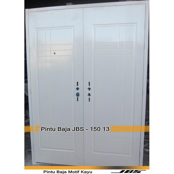 Pintu Besi Motif Kayu JBS Type 150.13