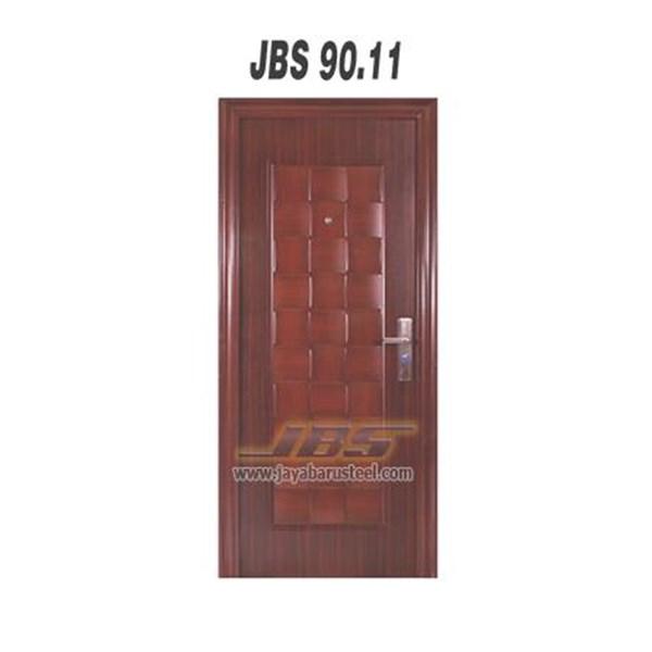 Pintu Baja Motif Kayu JBS