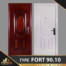 FORTRESS Single Door Type 10 Putih & Urat Kayu