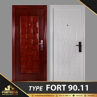 FORTRESS Single Door Type 11 Putih & Urat Kayu