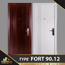 FORTRESS Single Door Type 12 Putih & Urat Kayu