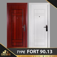 FORTRESS Single Door Type 13 Putih & Urat Kayu