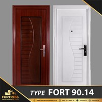 FORTRESS Single Door Type 14 Putih & Urat Kayu