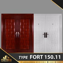 FORTRESS DOUBLE DOOR TYPE 11 PUTIH & URAT KAYU